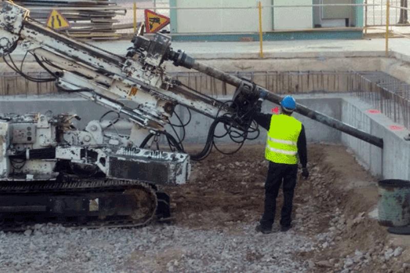 Anclajes para el tanque de Tormentas en Lo Pagan, Murcia para Ferrovial-Agroman